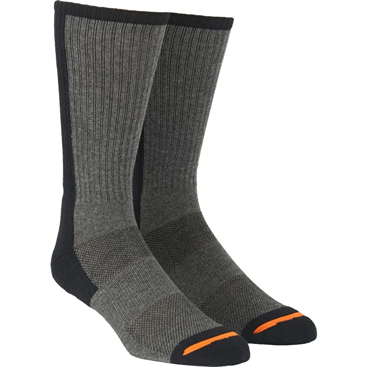 Santa Cruz SCS Block Strip Socks - Grey Melange/Black
