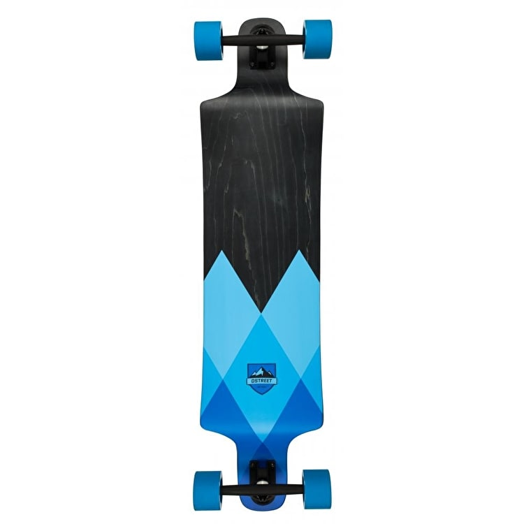 D-Street Geo Drop Down Longboard - Blue 40""