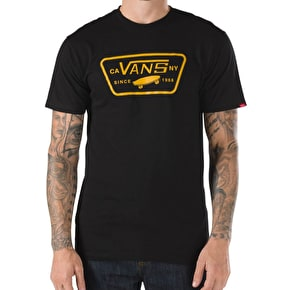 Vans Full Patch T-Shirt - Black/Cathay Spice