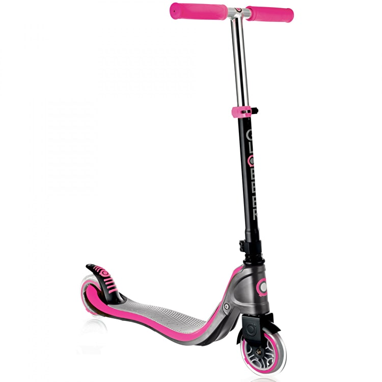 Globber Flow 125 Complete Scooter - Grey/Deep Pink