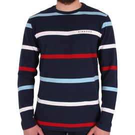 Diamond Supply Co Paradise Striped Crew Neck - Navy