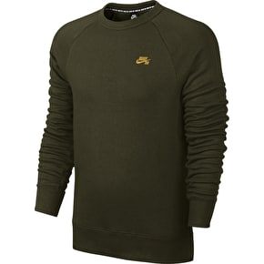 Nike SB Icon Crew Sweater - Cargo Khaki/Gold Leaf