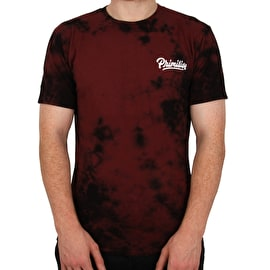 Primitive Campbell Washed T Shirt - Burgundy Wash