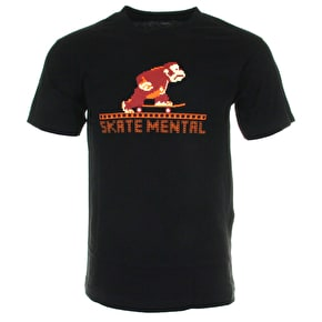 Skate Mental Monkey T-Shirt - Black