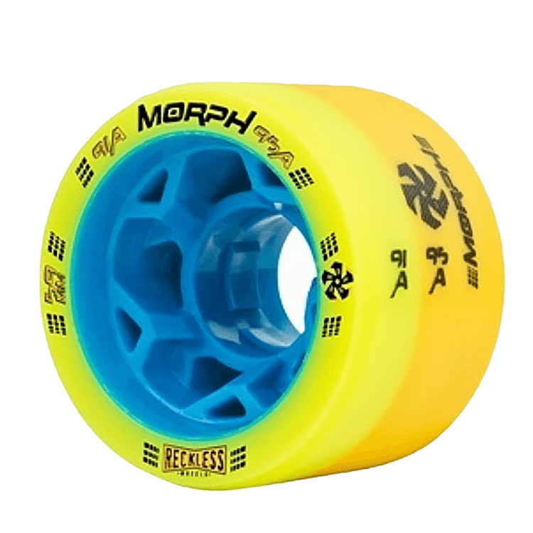 Reckless Morph Dual Durometer Derby Wheels-91A/95A Yellow