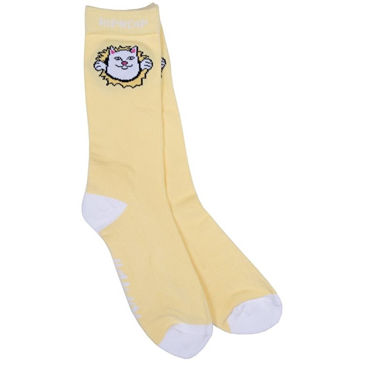 RIPNDIP Nermamaniac Socks - Yellow