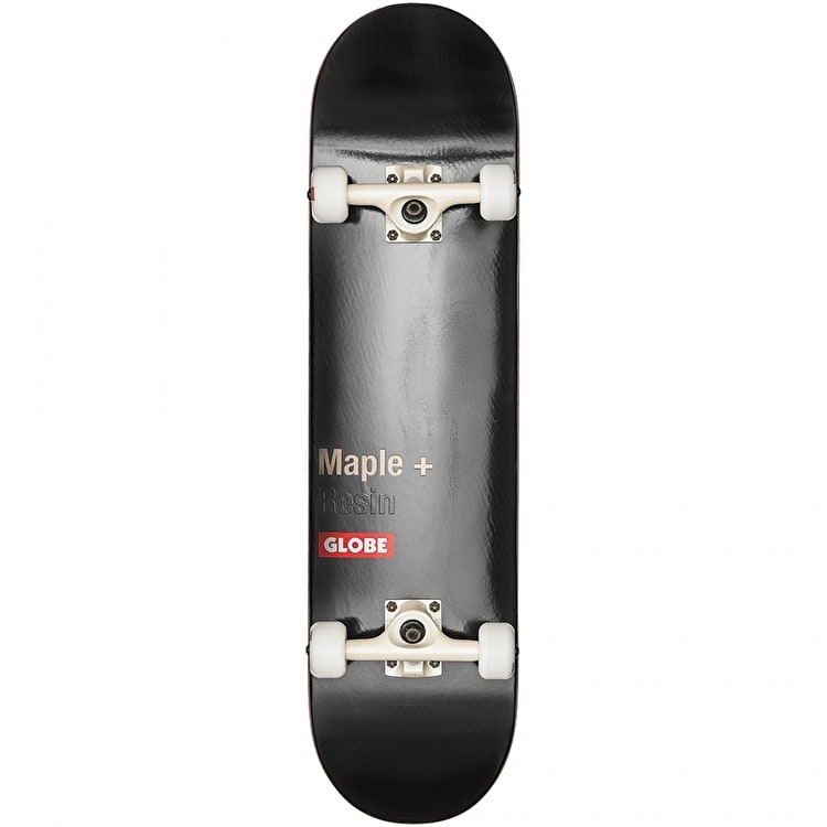 Globe Bar Complete Skateboard - Black 8""