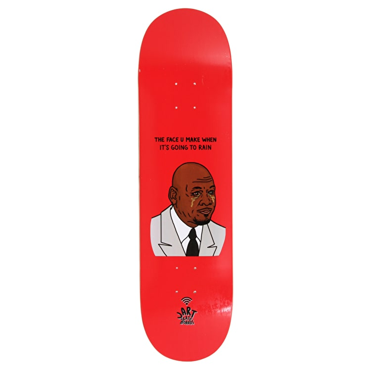 Jart The Face U Make When Skateboard Deck - Red 8.375""