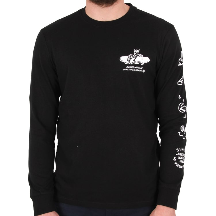 Element Wheelin Long Sleeve T shirt - Flint Black