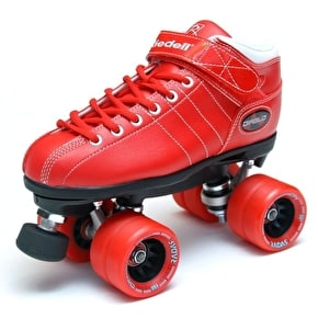 B-Stock Riedell Diablo Roller Derby Speed Skate - Red - UK 8 (ex display, NO WHEELS)