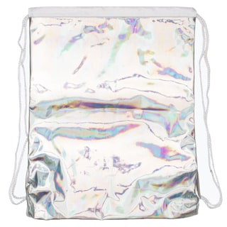Hype Holographic Drawstring Bag - Silver
