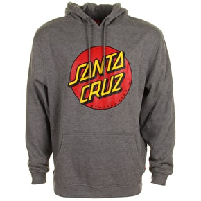 Santa Cruz Hoodie - Classic Dot Dark Heather