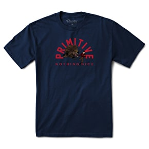 Primitive Bear Hunt T-Shirt - Navy