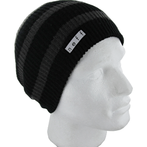 Neff Daily Stripe Beanie - Black / Charcoal