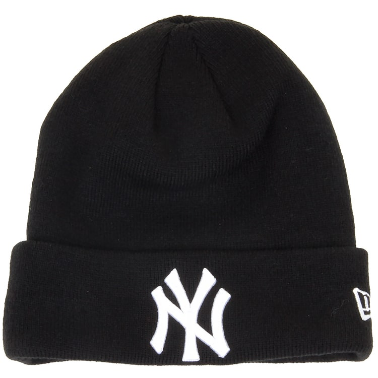 New Era Cuff Beanie- NY Yankees Black