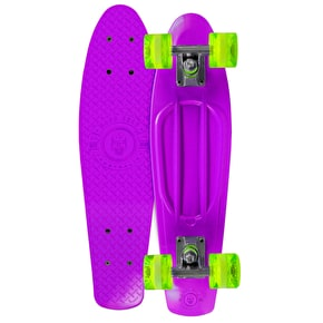 B-Stock Madd Gear Pro Skins Retro Cruiser - Purple/Lime (Cosmetic Damage)