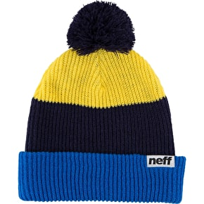Neff Snappy Beanie - Blue/Navy/Yellow