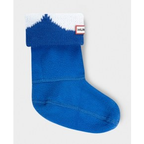 Hunter Kids Moustache Boot Socks - Cobalt / White