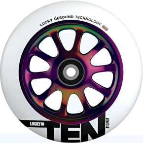 Lucky Ten 110mm Scooter Wheel - Neochrome/White