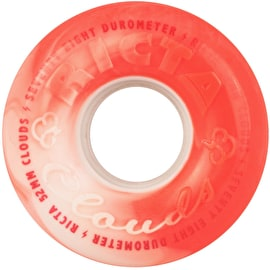 Ricta Clouds Swirl 78a Skateboard Wheels - Red/White 52mm