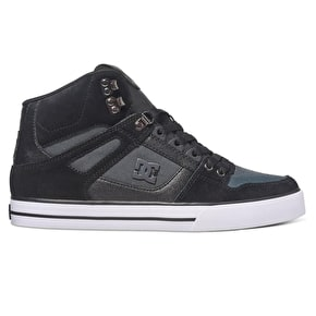 DC Spartan High WC SE Skate Shoes - Black/Dark Grey