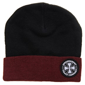 Independent ITC Beanie - Black/Oxblood