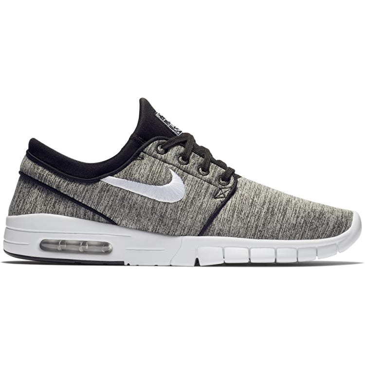 Nike SB Stefan Janoski Max Skate Shoes - Black/White