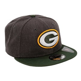 New Era Green Bay Packers NFL 9FIFTY Snapback Cap - Graphite Heather