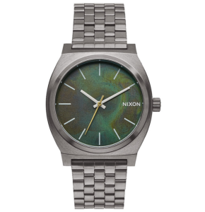 Nixon Time Teller Watch - Gunmetal/Green Oxyde