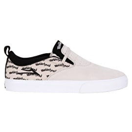 Lakai Riley 2 - Motorhead Skate Shoes - White Suede