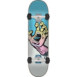 Santa Cruz Pastel Screaming Hand Complete Skateboard - Blue/Grey 8