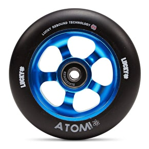 Lucky Atom 110mm Scooter Wheel - Blue/Black (Single)