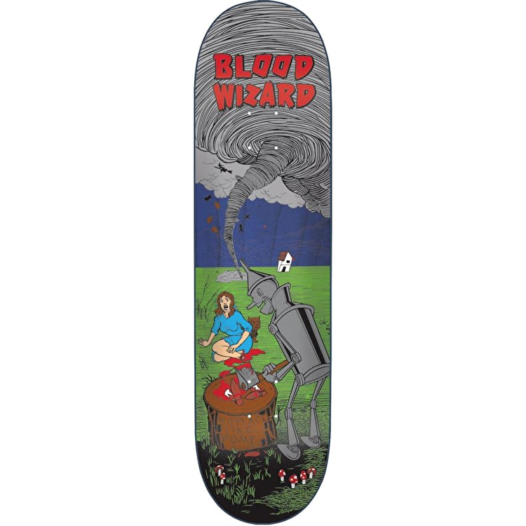 Blood Wizard Tin Man Skateboard Deck 8.375""
