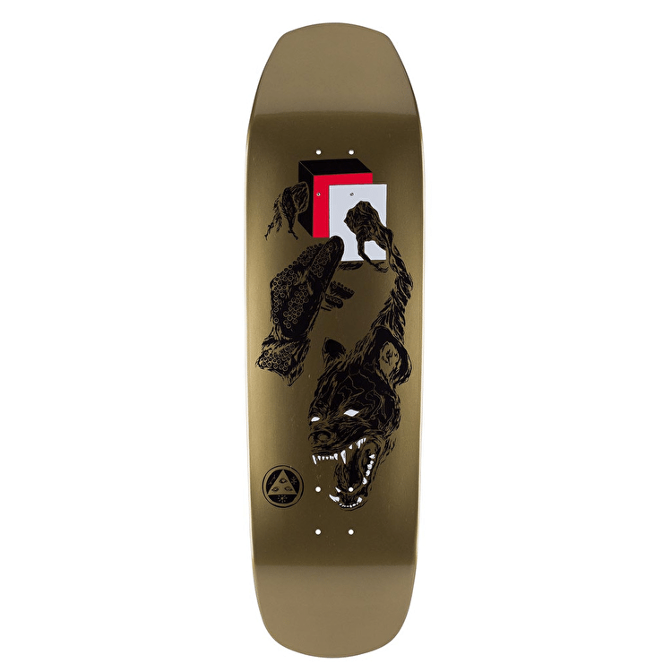 Welcome Face Of A Lover On Banshee 90 Skateboard Deck - Gold Dip 9""