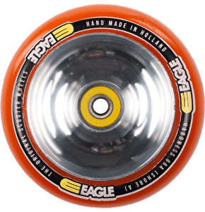 Eagle Polished Full Metal Core Orange PU Wheel - 110mm