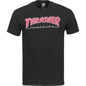 Thrasher Outlined T-Shirt - Black