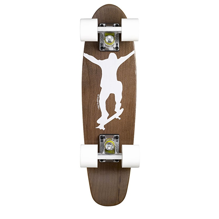 Ridge Mini Cruiser Skateboard - Number One Dark Dye/White 22""