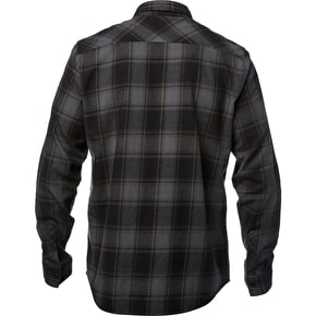 Fox Voyd Flannel Shirt - Dark Green