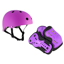 SFR Essentials Helmet & Pad Set Bundle - Purple