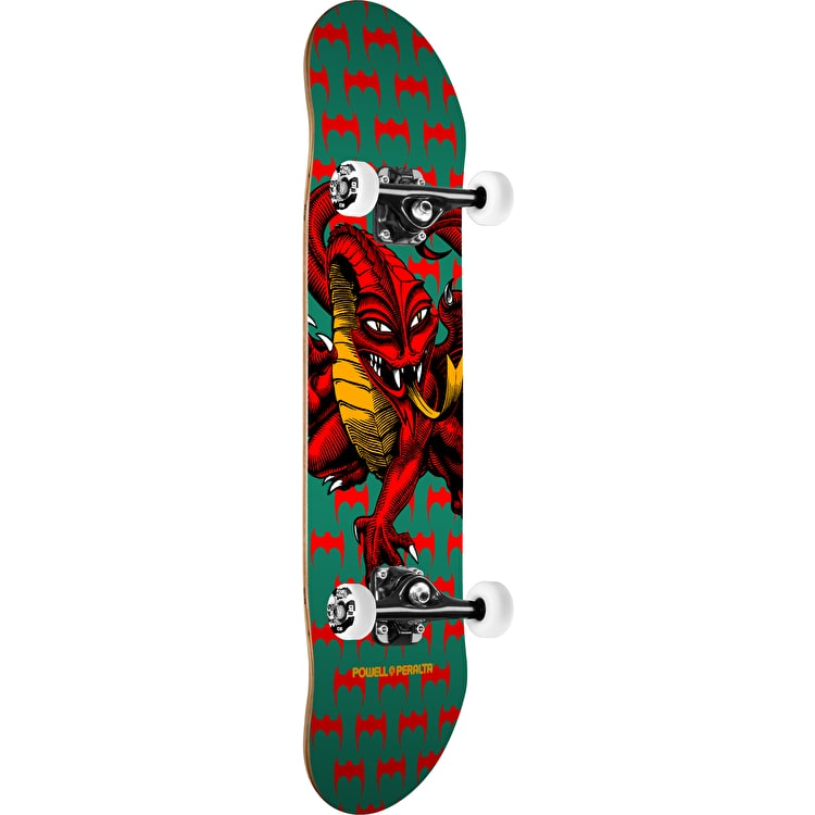 Powell Peralta One Off Cab Dragon Complete Skateboard - Green/White 7.75""