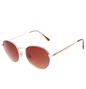 Happy Hour Hawk Holidaze Sunglasses - Gold/Amber