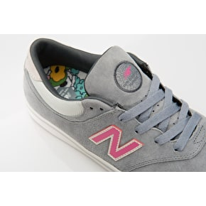 New Balance Numeric Quincy 254 Shoes - Grey/Pink