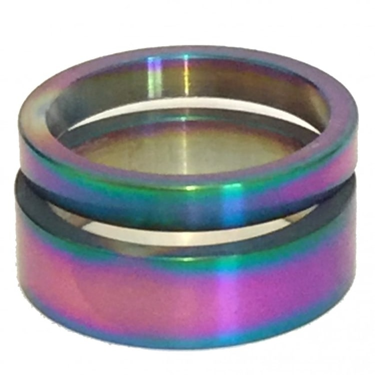 SkateHut Headset Spacer Set - Neochrome