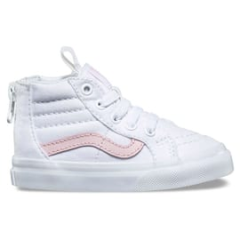 Vans Sk8-Hi Zip Toddler High Top Shoes - True White/Chalk Pink