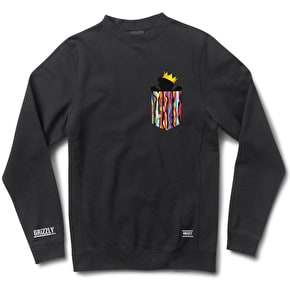 Grizzly Biggie Pocket Crew Sweater - Black
