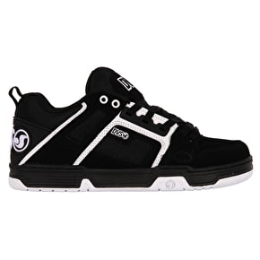 DVS Comanche Skate Shoes - Black/White Nubuck