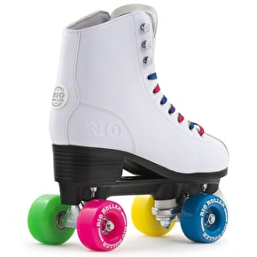 B-Stock Rio Roller Figure Quad Roller Skates - White UK 7 (Box Damage)
