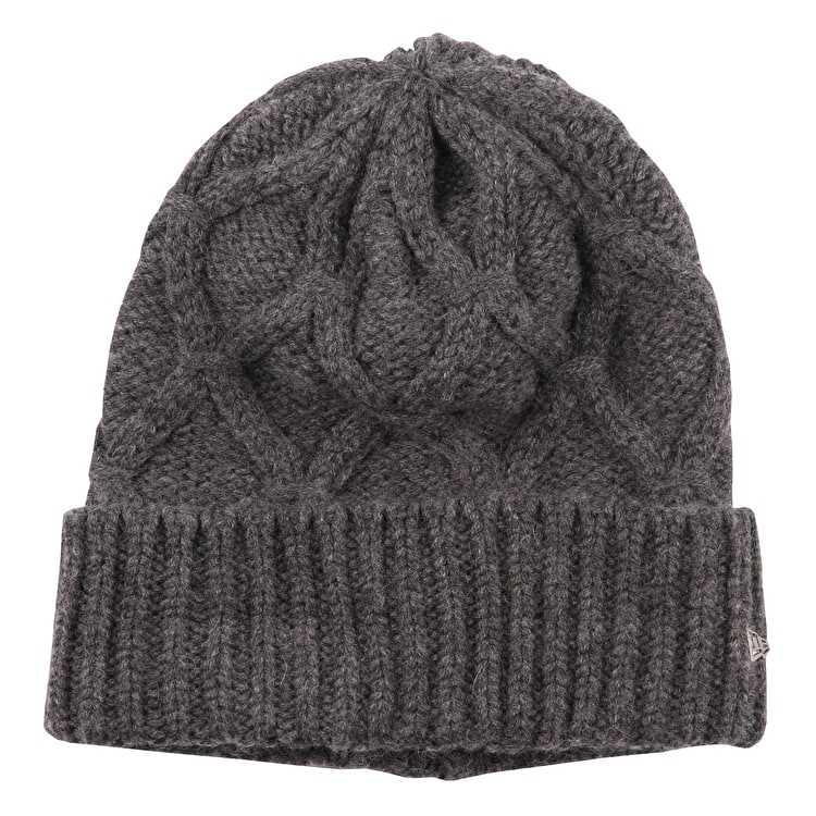 New Era Cashmere Blend Cuff Womens Beanie - Grey