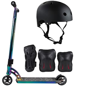 MGP VX7 Team LE Neochrome/Black/Neochrome Stunt Scooter Bundle