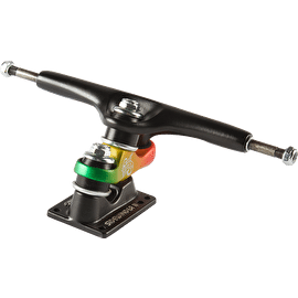 B-Stock Gullwing Sidewinder 10'' Longboard Trucks - Black/Rasta (Cosmetic Damage)